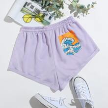 Wave Graphic Shorts