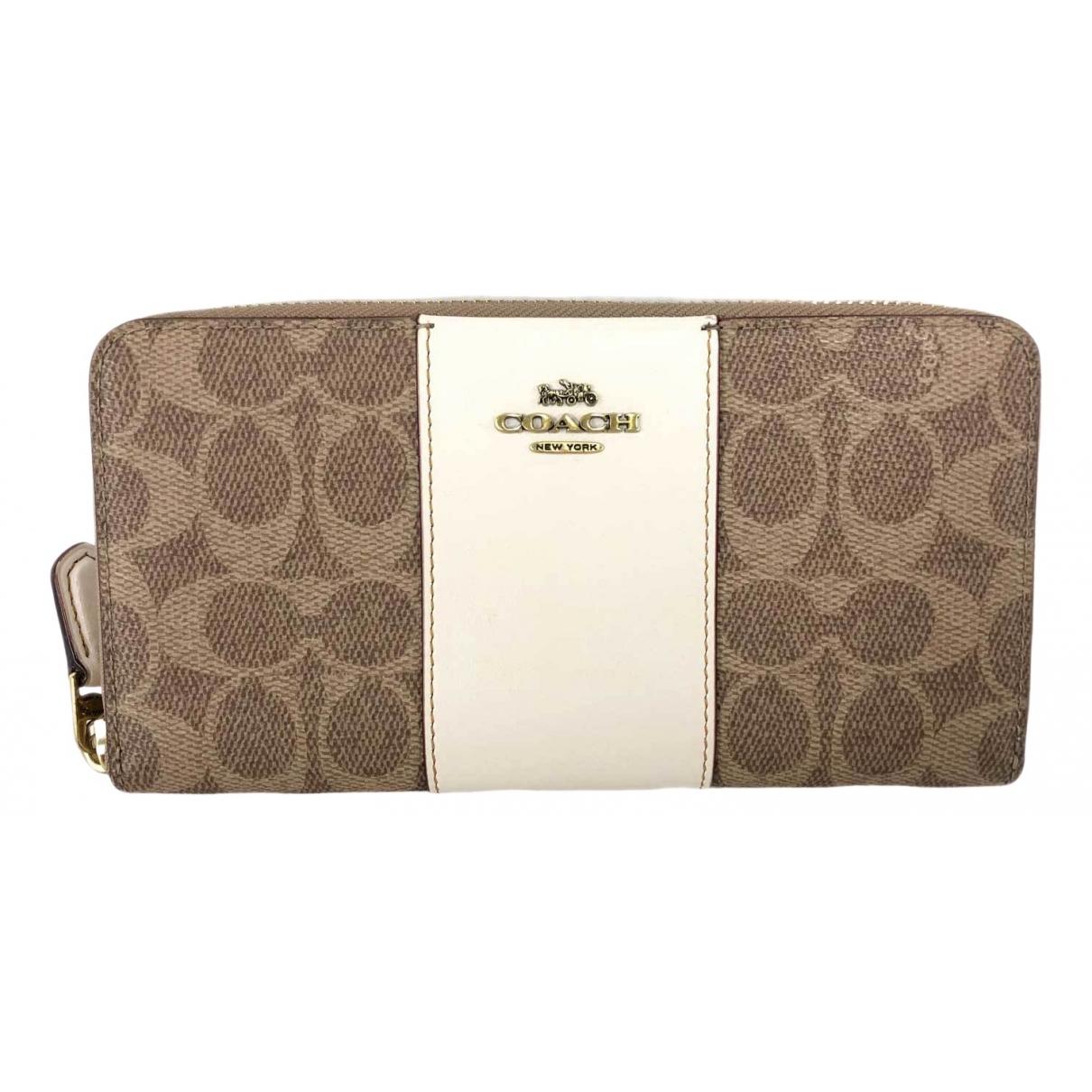 Coach \N Brown Cloth wallet for Women \N