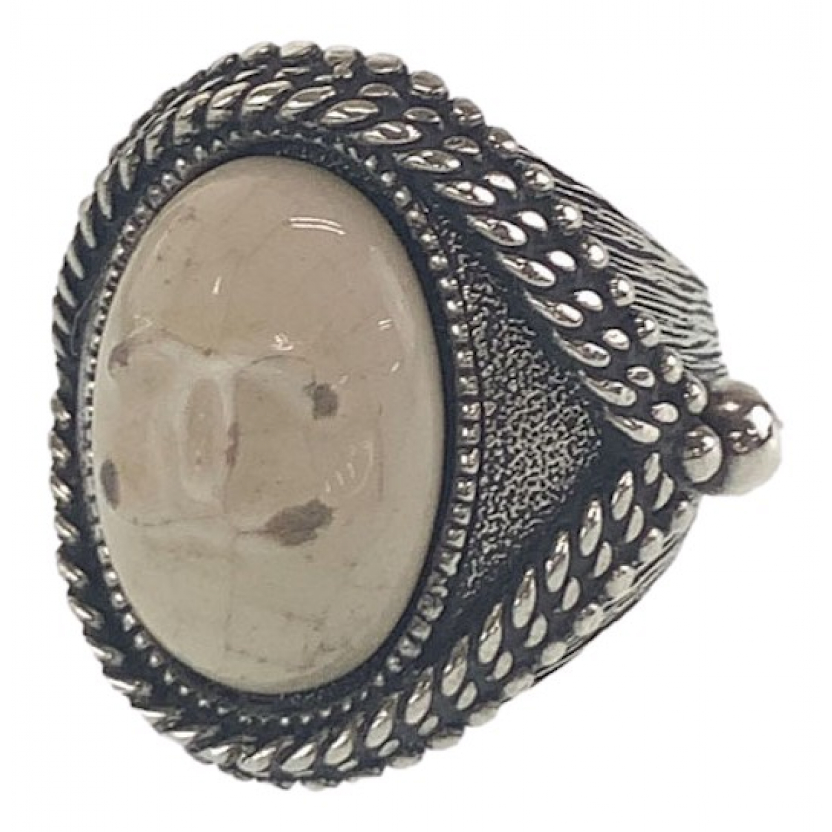 Chanel CC Ring in  Silber Metall