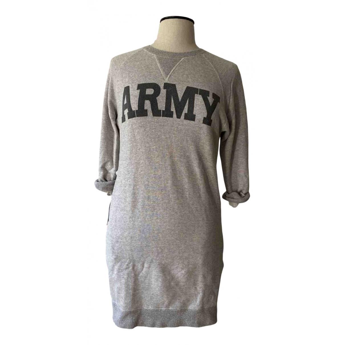Nlst - Robe   pour femme en coton - elasthane - gris