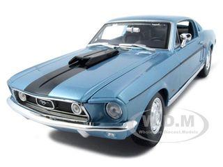 1968 Ford Mustang CJ Cobra Jet Blue 1/18 Diecast Model Car by Maisto