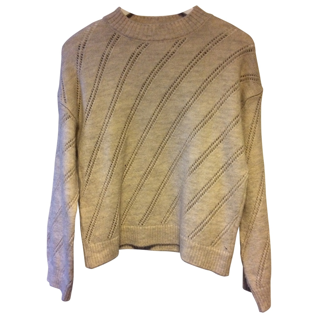 Mango - Pull   pour femme en laine - beige