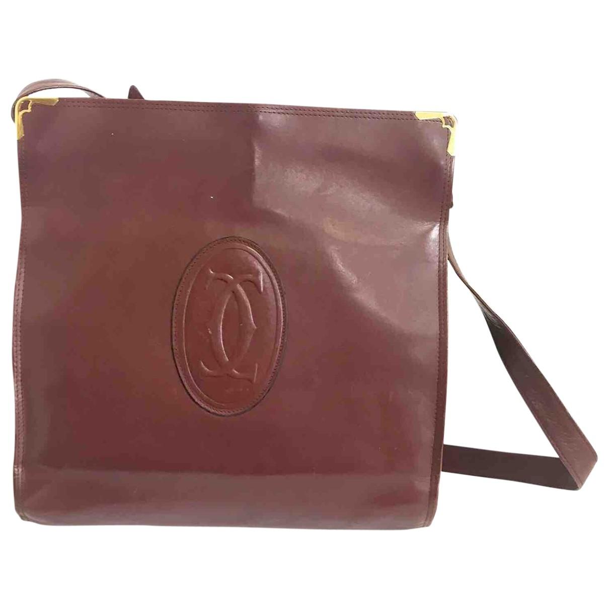 Cartier \N Burgundy Leather handbag for Women \N