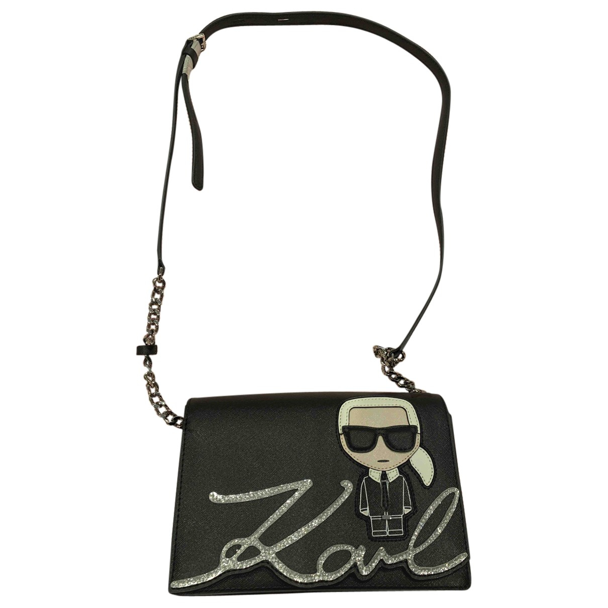 Karl Lagerfeld \N Clutch in  Schwarz Leder
