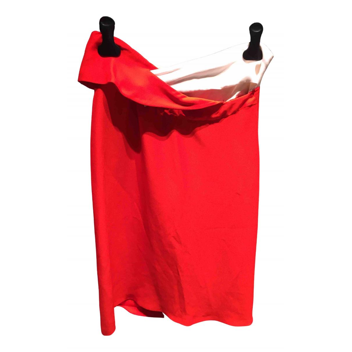 Jil Sander - Jupe   pour femme en coton - rouge