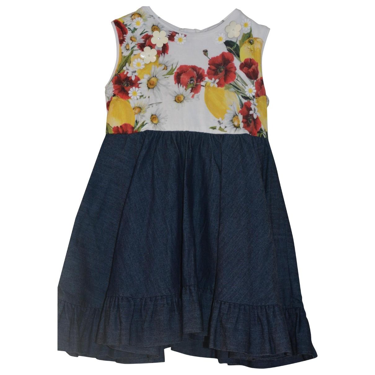 Dolce & Gabbana \N Kleid in  Bunt Baumwolle