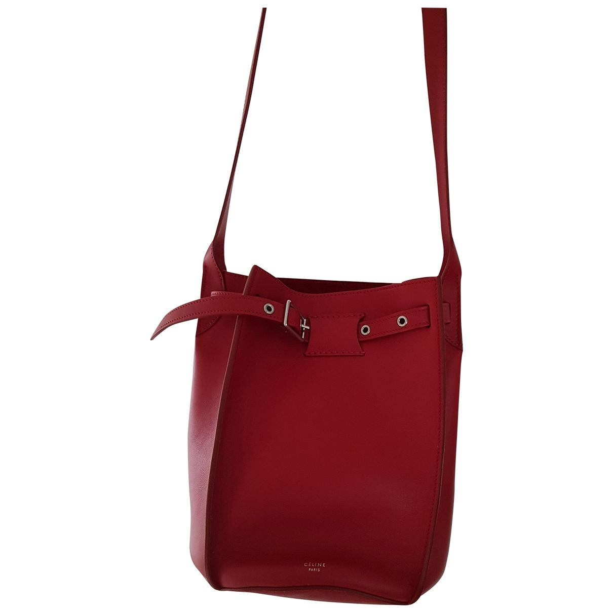 Celine - Sac a main Big Bag pour femme en cuir - rouge