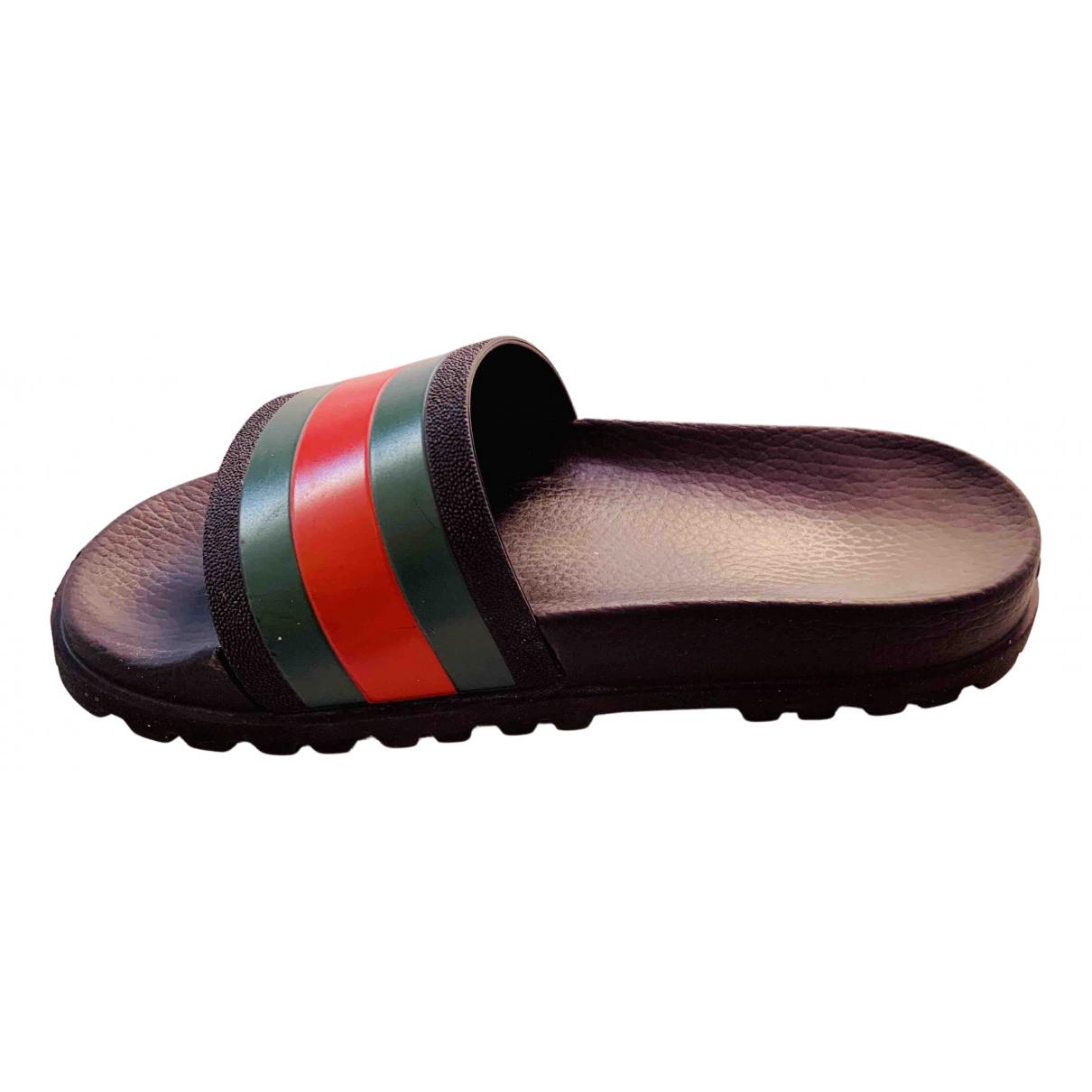 Gucci Web Black Rubber Sandals for Men 41 EU