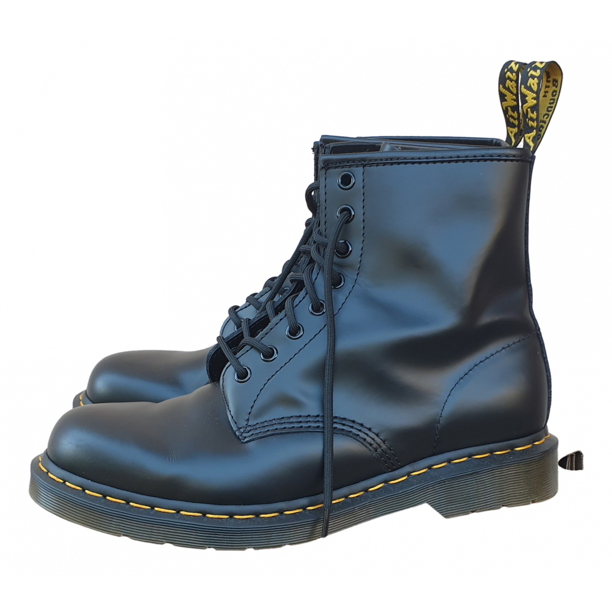 Dr. Martens 1460 Pascal (8 eye) Black Leather Boots for Men 44 EU