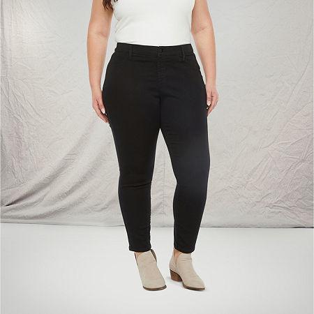 a.n.a-Plus Womens Skinny Stretch Jegging, 28w , Black
