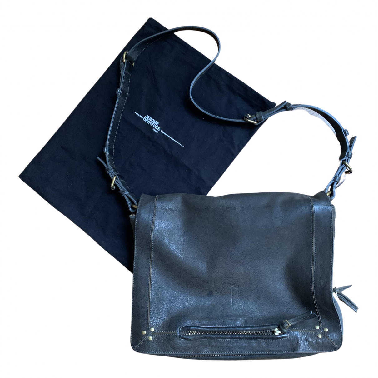 Jerome Dreyfuss Albert Grey Leather handbag for Women N