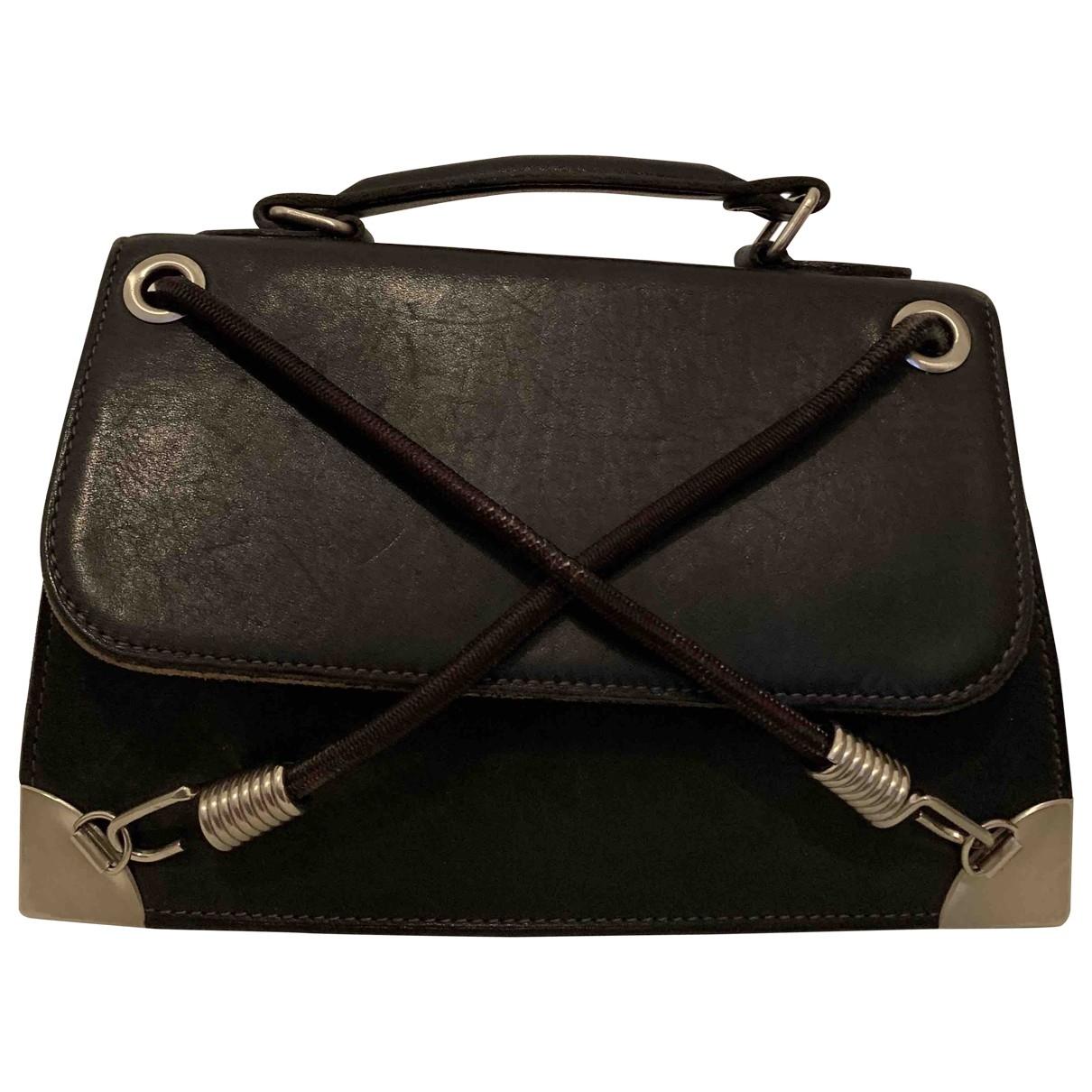 Jean Paul Gaultier - Sac a main   pour femme en cuir - noir