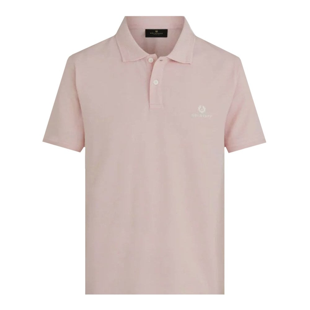 Belstaff Short Sleeve Polo Colour: PINK, Size: EXTRA LARGE