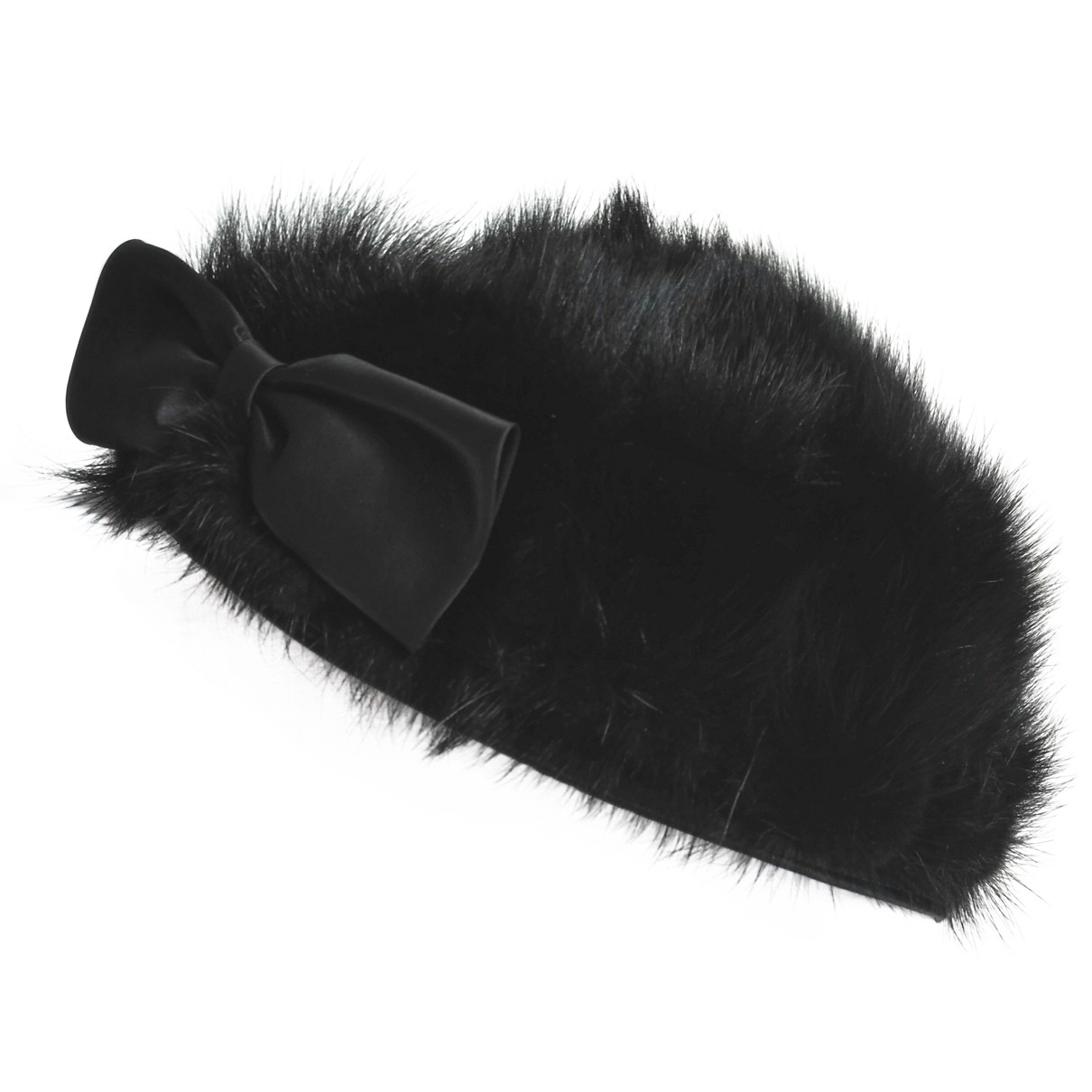 - Chapeau   pour femme en vison - noir
