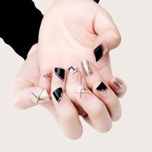 24 Stuecke Glitter Falsche Fingernaegel