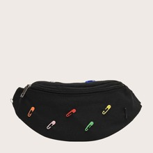 Safety Pin Decor Fanny Pack