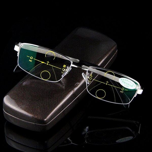Intelligent Reading Glasses Anti UV Progressive Multifocal Lens Presbyopia Eye Health Care With Case