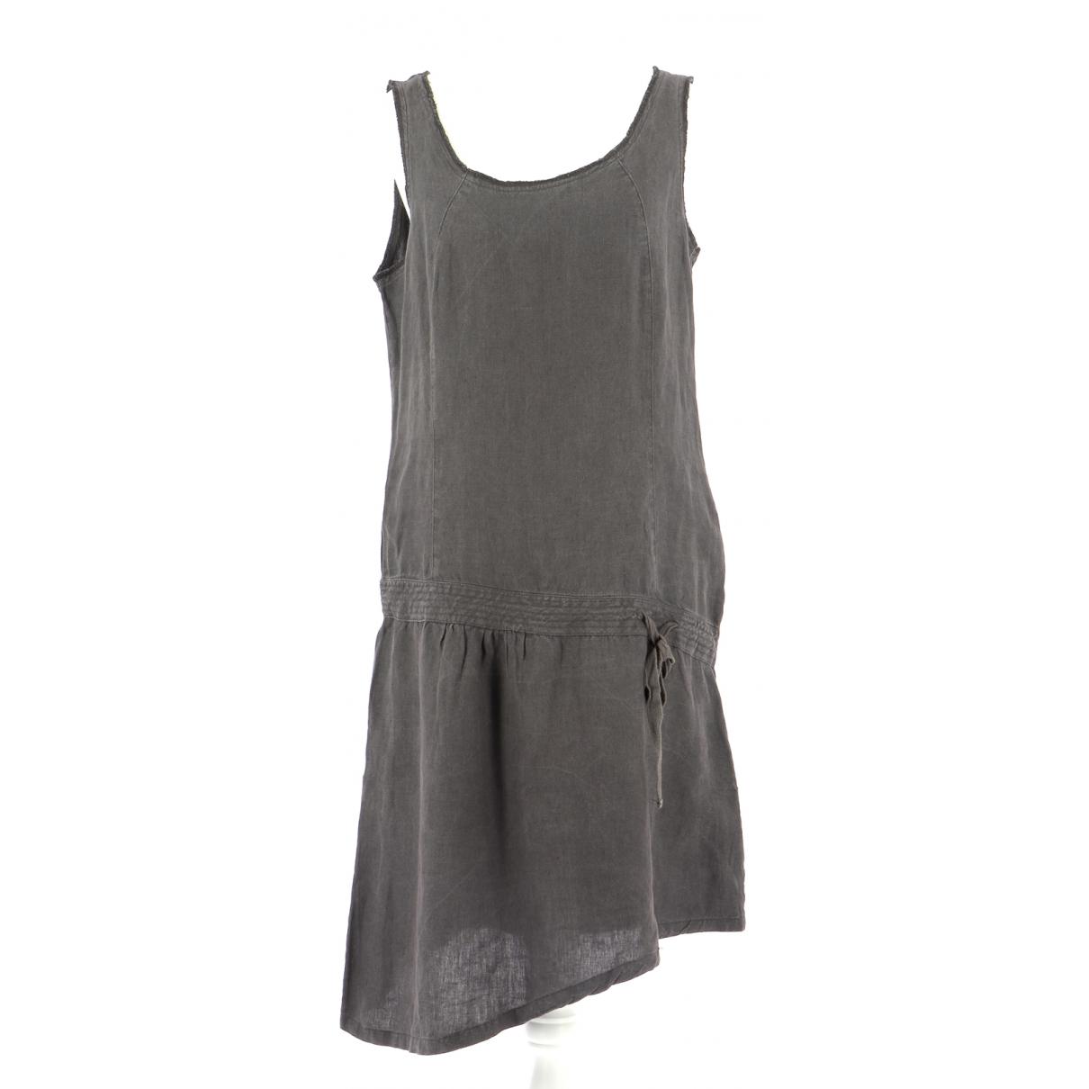 Comptoir Des Cotonniers \N Kleid in  Grau Leinen