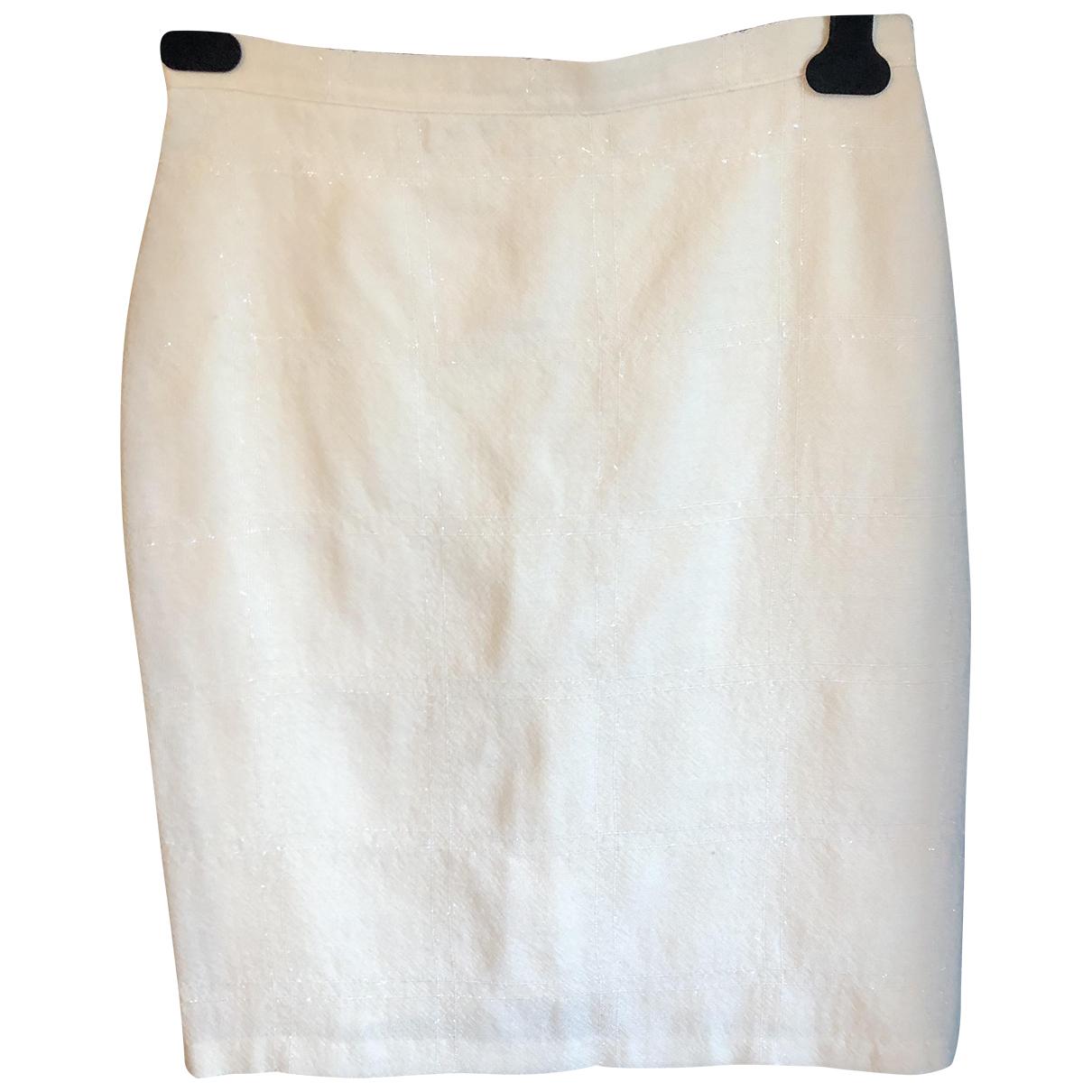 - Jupe   pour femme en laine - beige