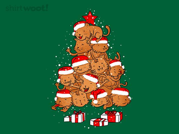 Meowy Catmas Tree T Shirt