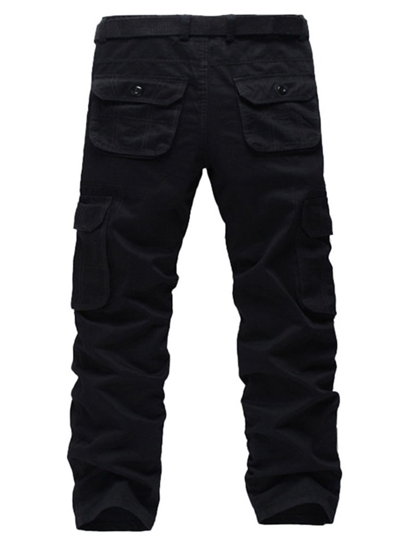 Ericdress Plain Straight Pocket European Four Seasons Casual Pants