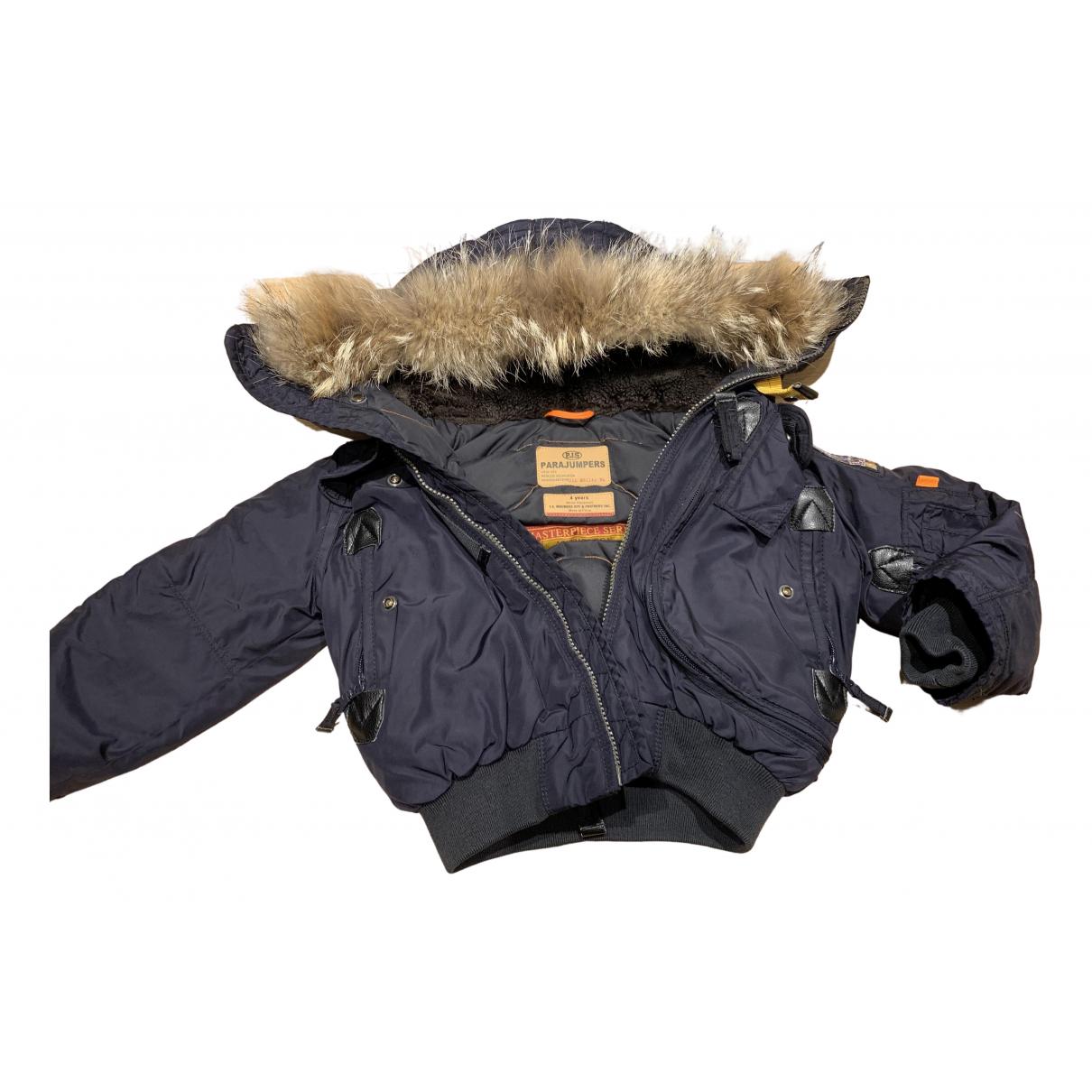 Parajumpers - Blousons.Manteaux   pour enfant en fourrure - bleu