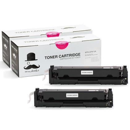 Compatible HP 410A CF413A cartouche de toner magenta - Moustache - 2/paquet