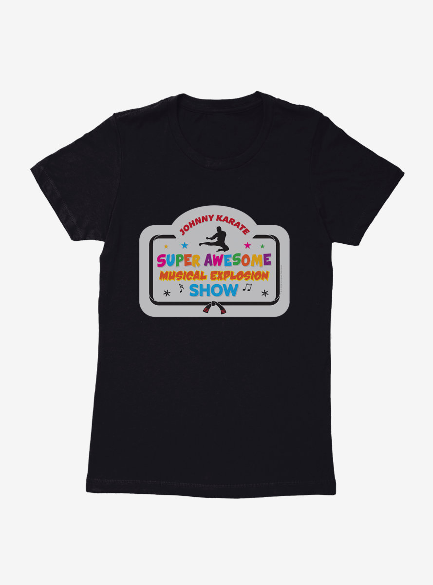 Parks And Recreation Johnny Karate Show Banner Womens T-Shirt