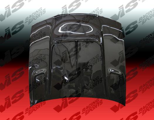 VIS Racing 95NS2402DDFT2-010C Carbon Fiber Drift 2 Hood Nissan 240SX 95-96