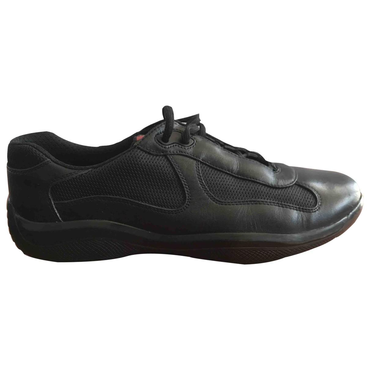 Prada \N Black Leather Trainers for Men 9 UK