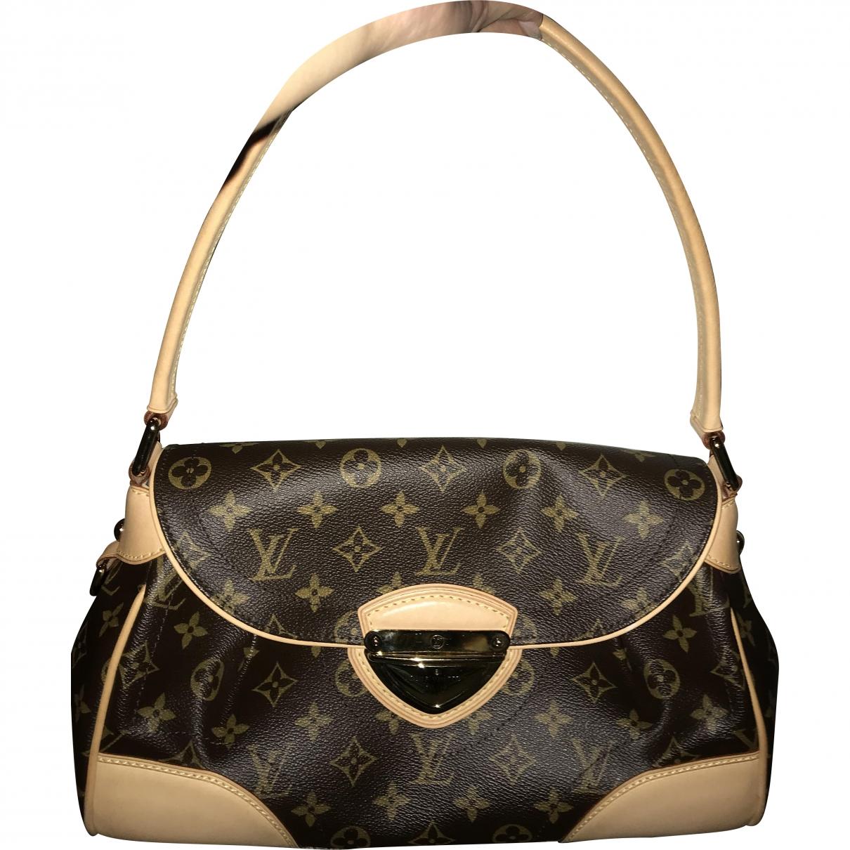 Louis Vuitton Beverly Handtasche in  Braun Leinen