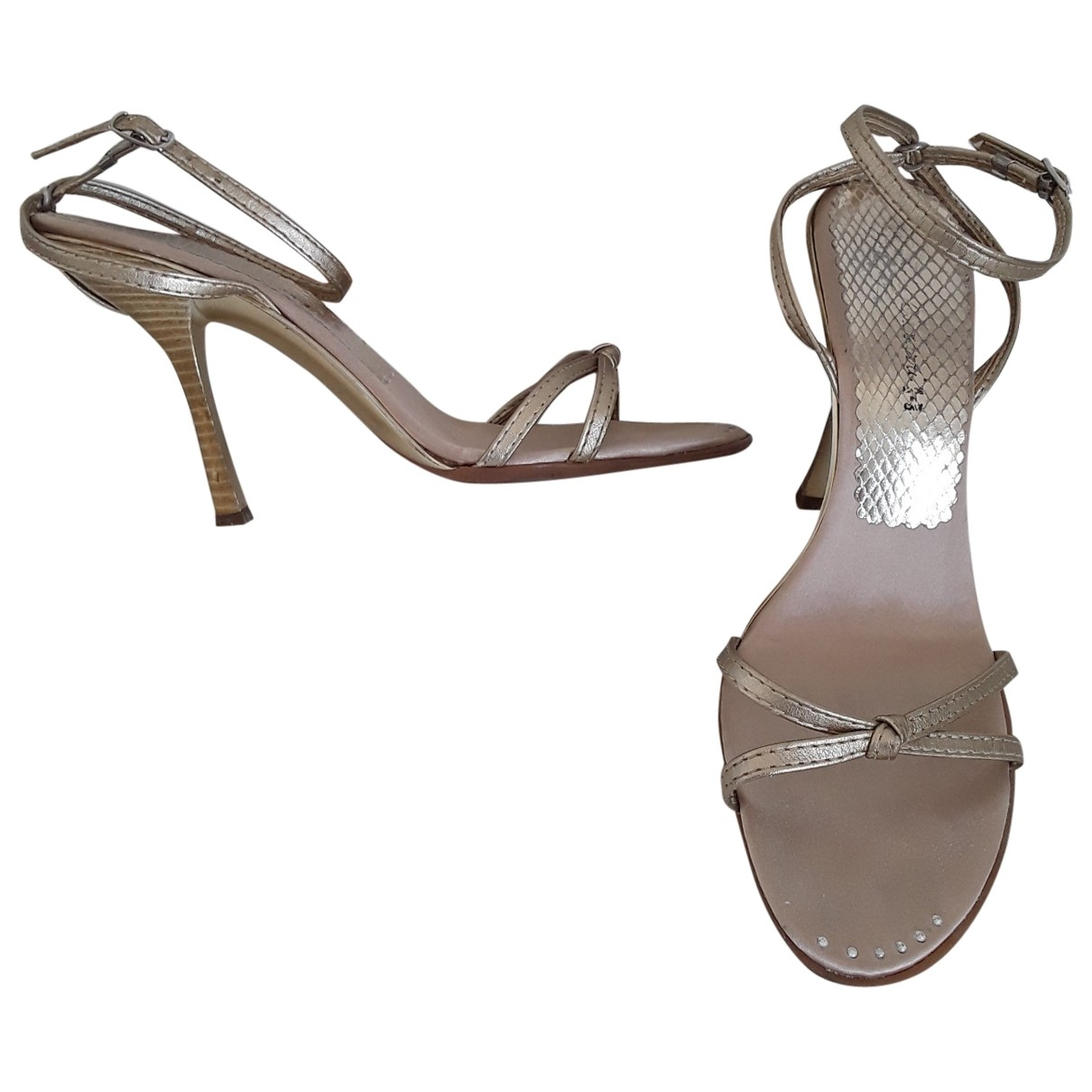 Non Signé / Unsigned \N Gold Leather Sandals for Women 39 IT