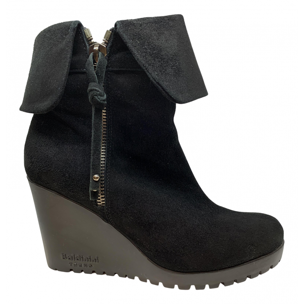 Baldinini \N Black Suede Ankle boots for Women 40.5 EU