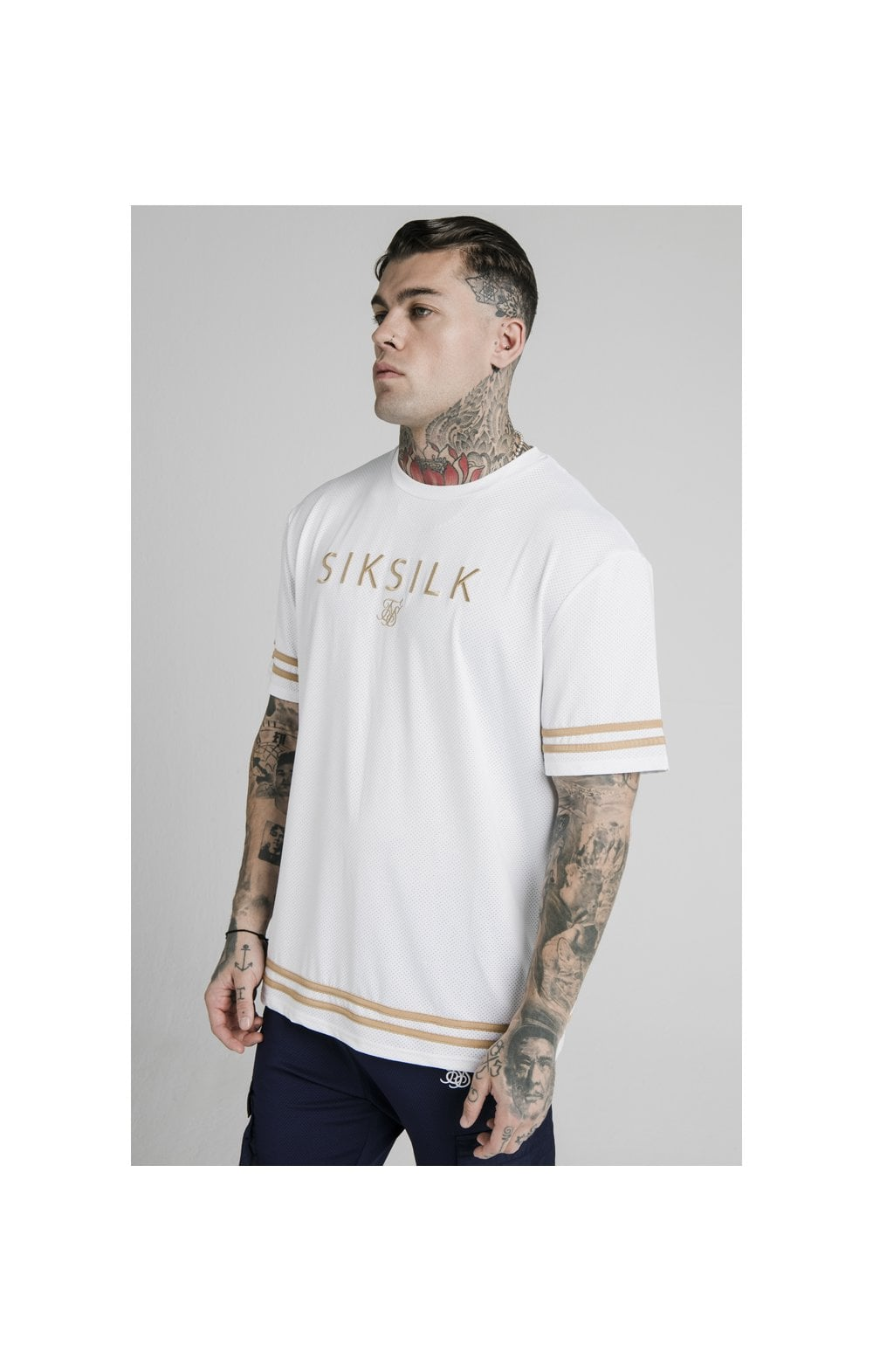 SikSilk S/S Essential Tee - White  MEN SIZES TOP: Extra Large