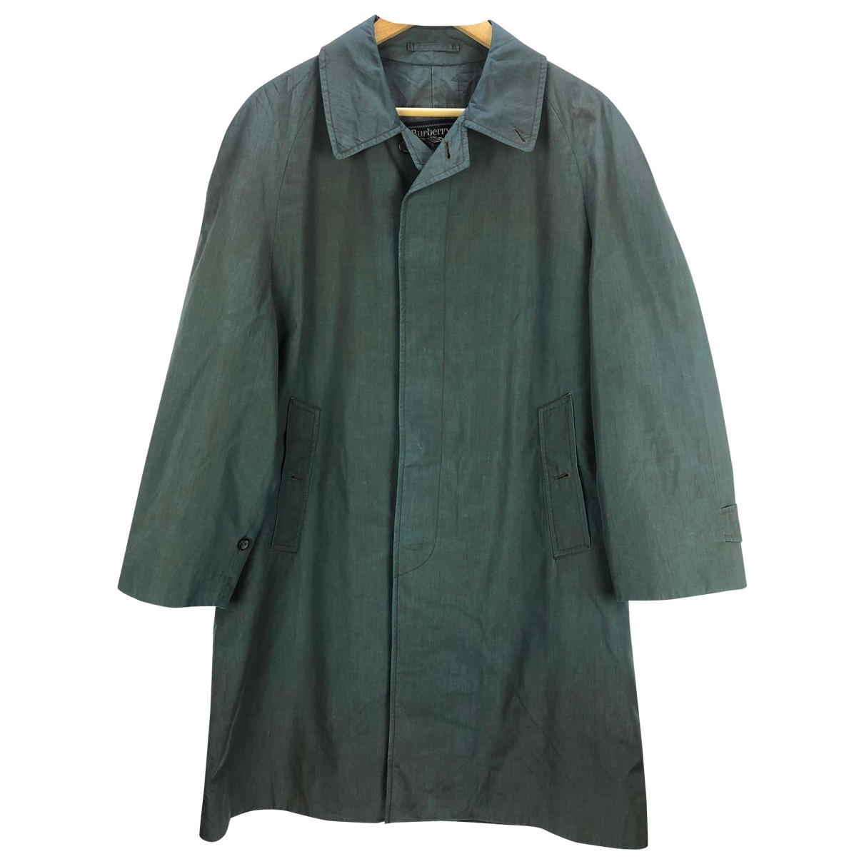 Burberry \N Blue Cotton Trench coat for Women L International