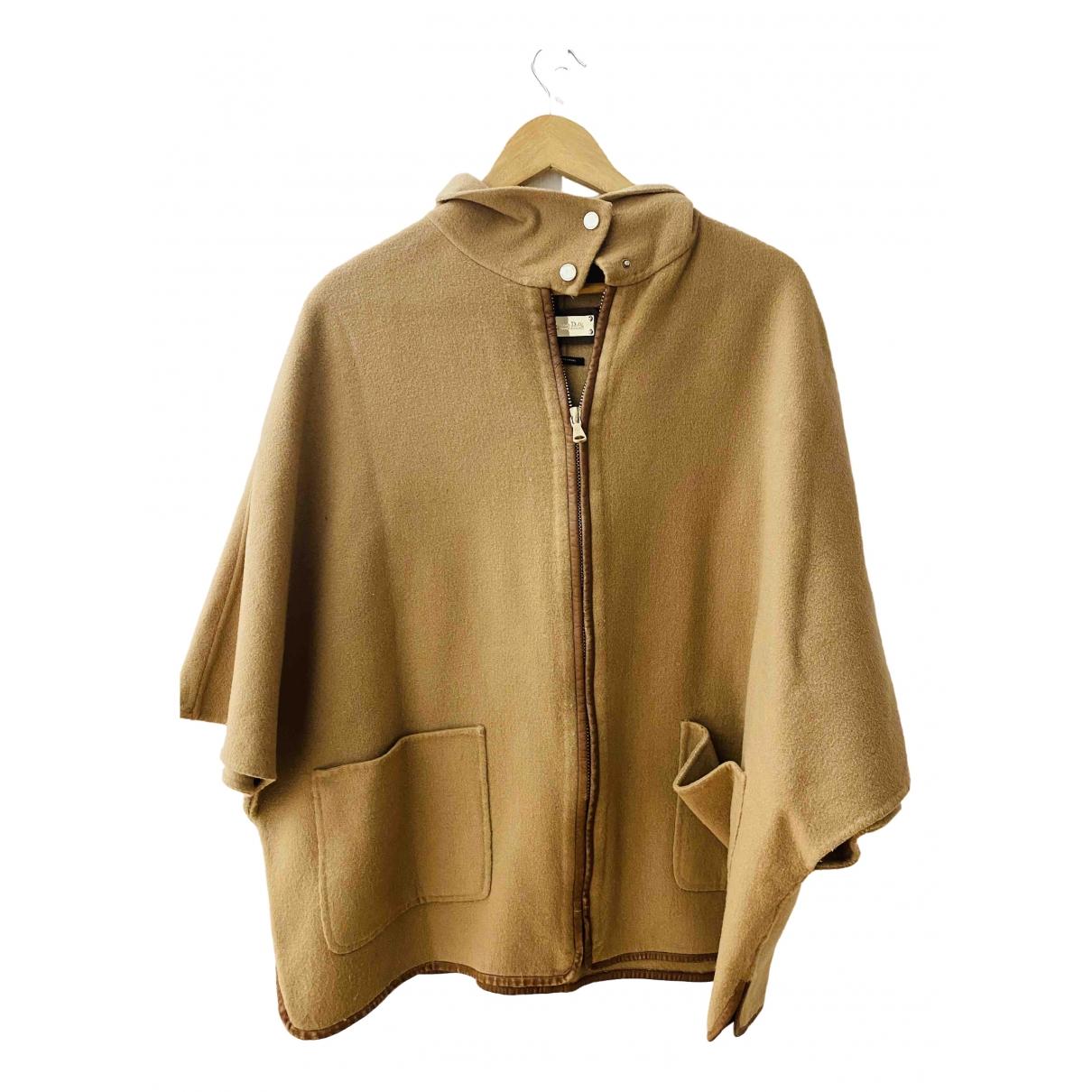 Massimo Dutti - Manteau   pour femme en coton - camel