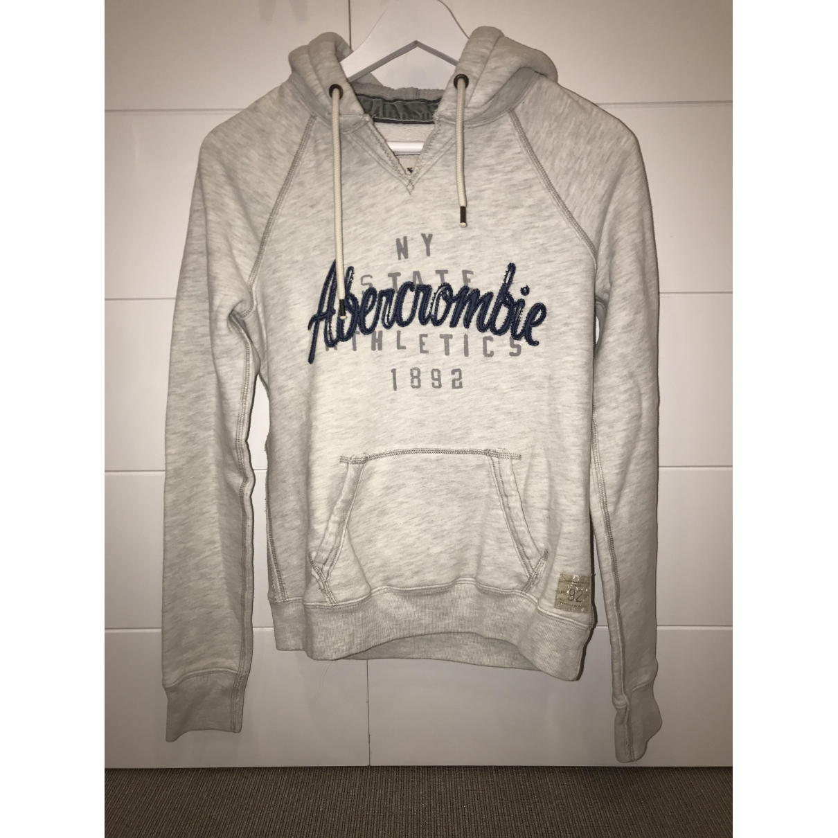 Abercrombie & Fitch - Pull   pour femme en coton - gris