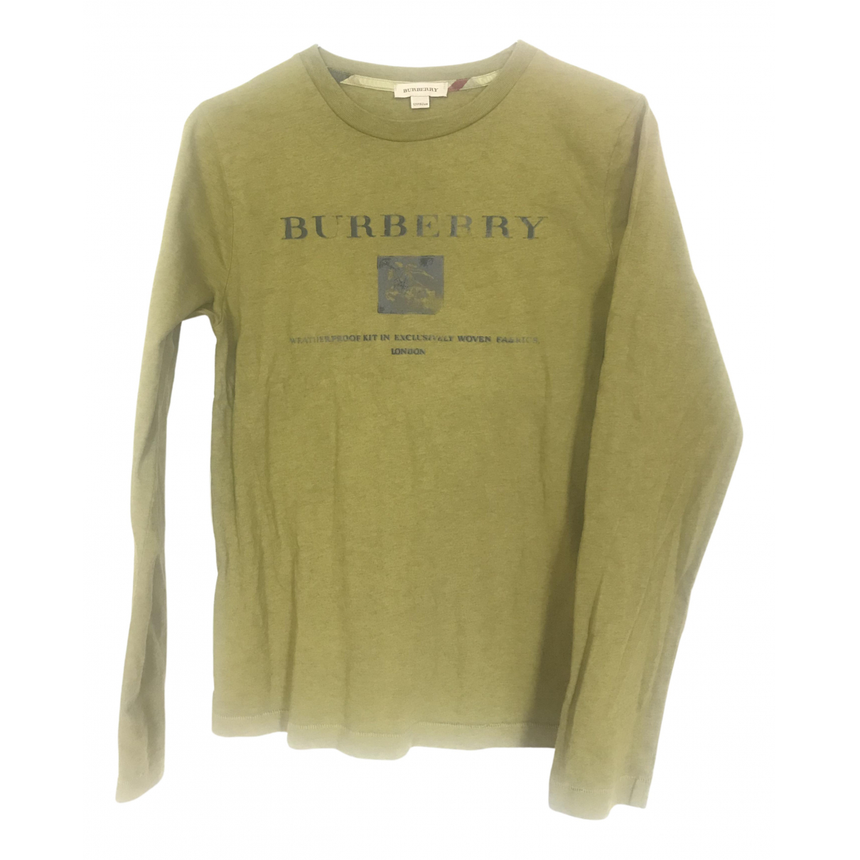 Burberry \N Green Cotton  top for Kids 12 years - XS FR
