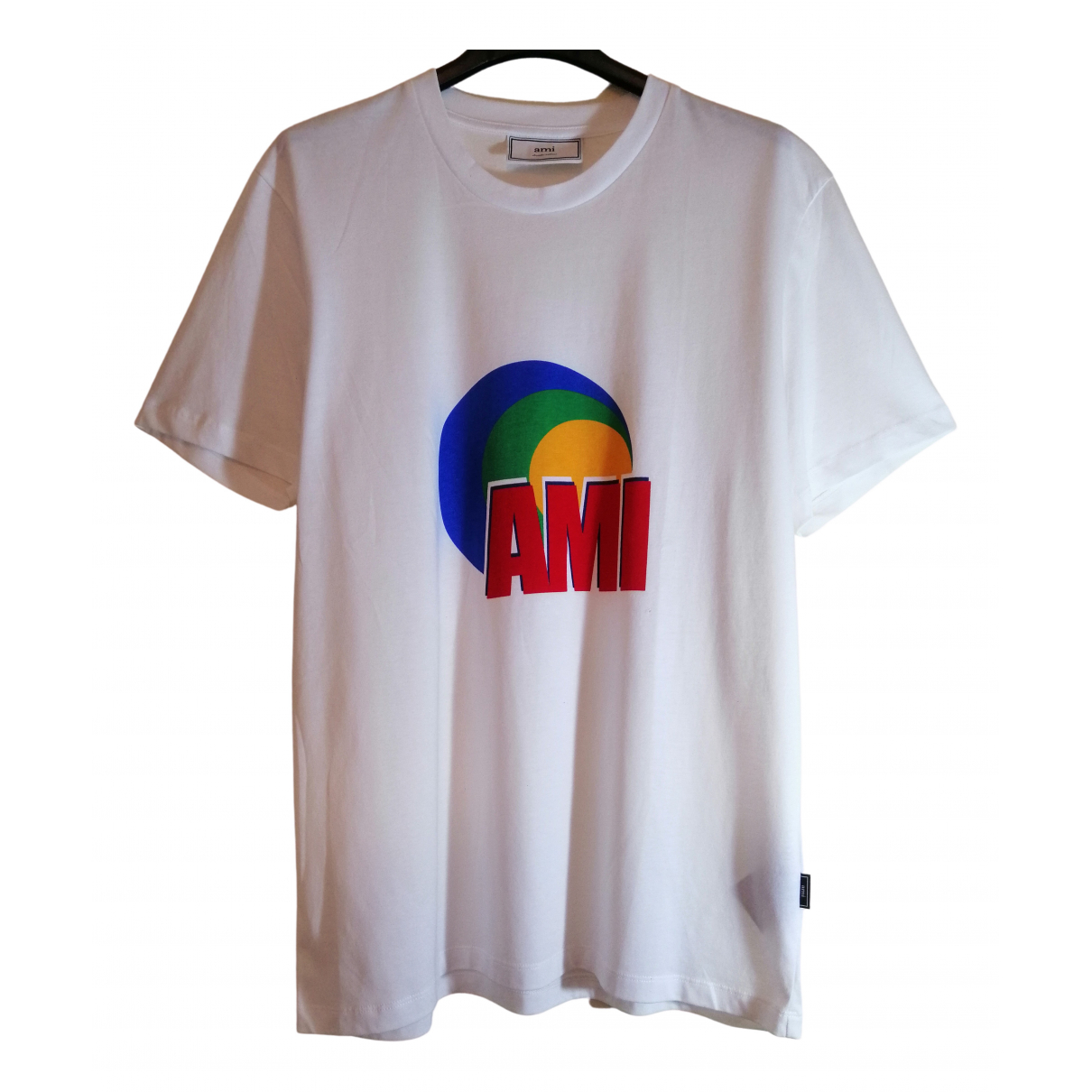 Ami \N White Cotton T-shirts for Men M International