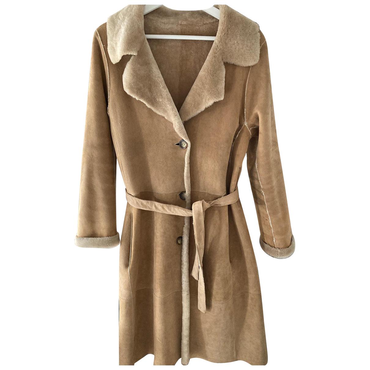 Shearling - Manteau   pour femme en fourrure - beige