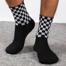Men Plaid Pattern Socks