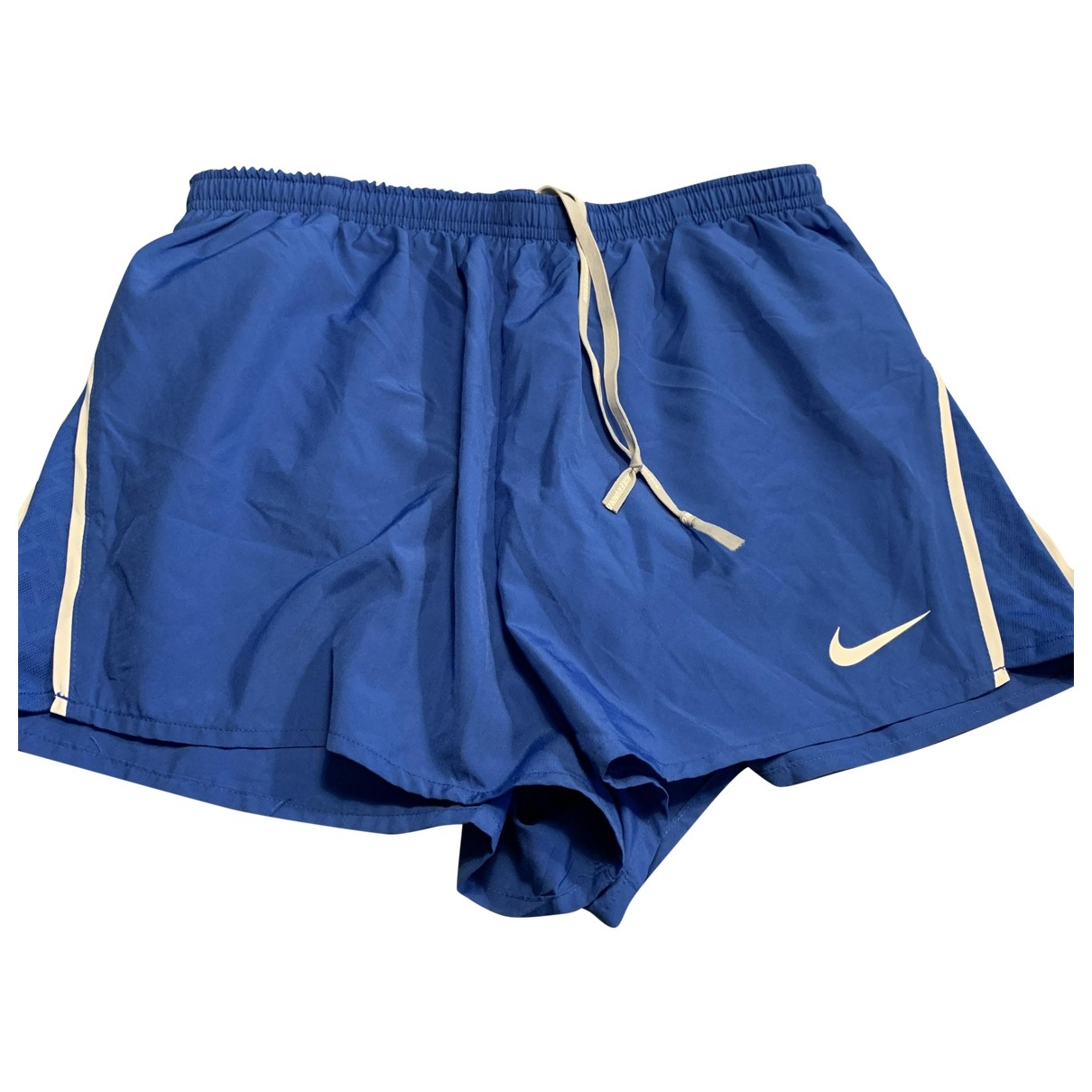 Nike \N Shorts in  Blau Synthetik
