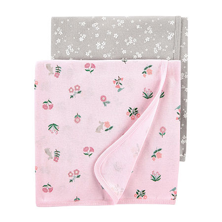 Carter's 2 Pair Receiving Blanket, One Size , Multiple Colors