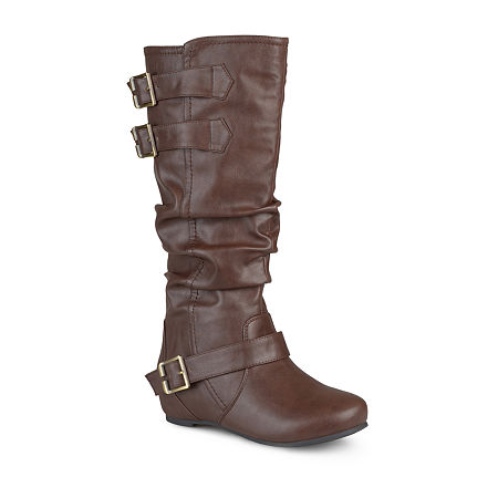 Journee Collection Womens Tiffany Slouch Riding Boots, 7 1/2 Medium, Brown