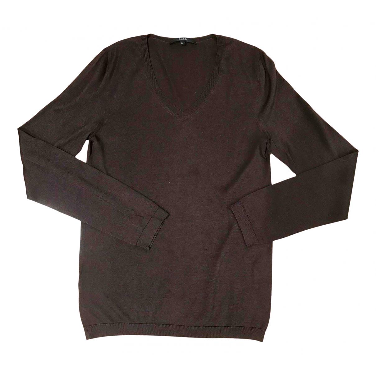 Gucci \N Pullover.Westen.Sweatshirts  in  Braun Seide