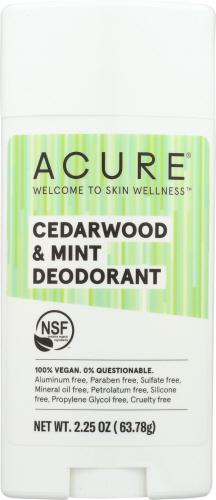 Deodorant Stick Cedarwood & Mint 2.25 Oz by Acure