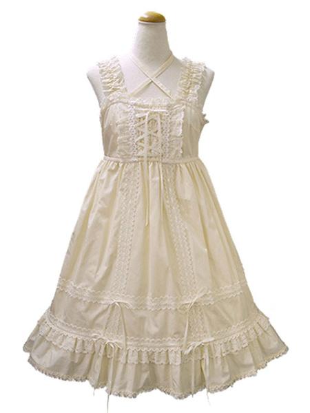 Milanoo Sweet Lolita Skirt Jsk Burgundy Lolita Jumper Skirt