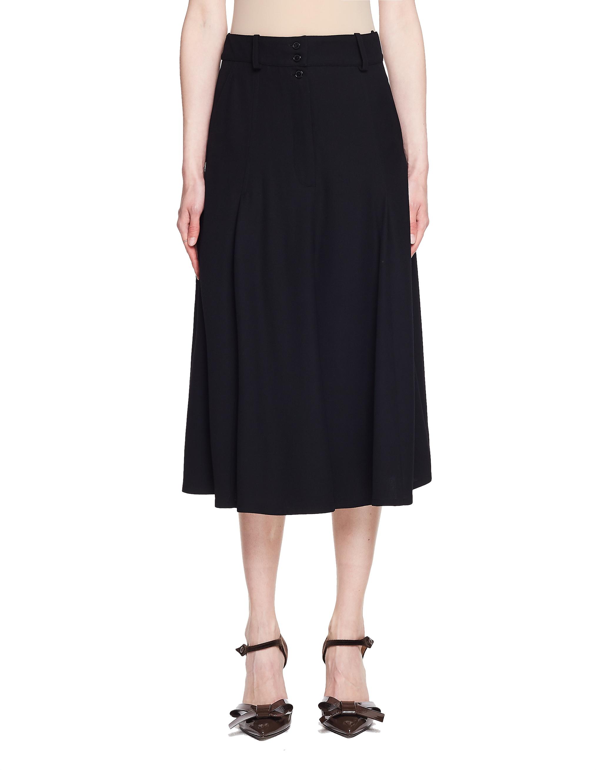 Vetements Black Midi Skirt
