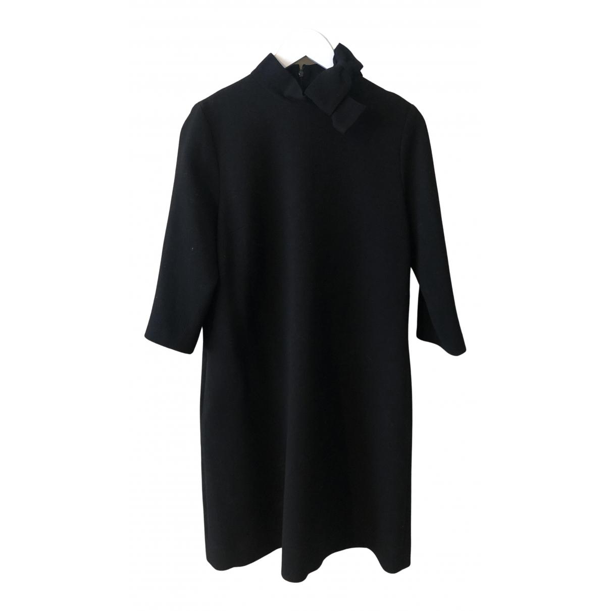 Goat \N Kleid in  Schwarz Wolle