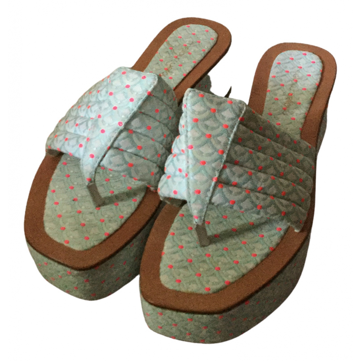 Mellow Yellow \N Turquoise Cloth Sandals for Women 40 EU